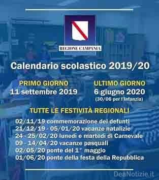 Calendario Ponti 2020.Calendario Scolastico 2019 2020 Festivita E Ponti In